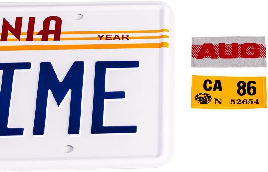 OUTATIME License Plate For Delorean Movie Prop BTTF Merchandise Memorabilia ASVP Shop