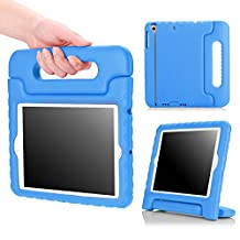iPad Mini 1 / 2 / 3 Case, MoKo Kids Shock Proof Handle Light Weight Protective Stand Cover for Apple iPad Mini 1 (2012), iPad Mini 2 (2013), iPad Mini 3 (2014), BLUE (Not fit iPad Mini 4)