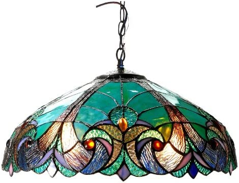 Chloe Lighting CH18780VG18-DH2 Liaison Tiffany-Style Victorian 2-Light Ceiling Pendent with Shade, 8.5 x 18 x 18 , Bronze