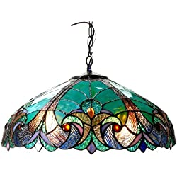 Chloe Lighting CH18780VG18-DH2 Liaison Tiffany-Style Victorian 2-Light Ceiling Pendent 18-Inch Shade