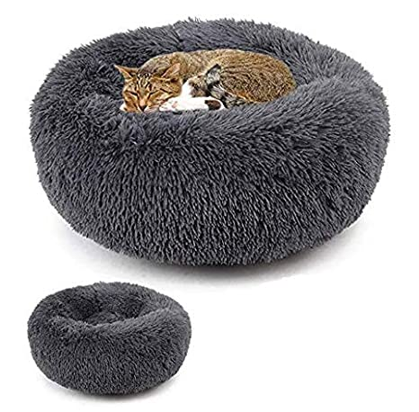 Amazing Fams Deluxe Pet Bed Proof Plush Soft Winter Warm Pet Round Bed Washable Cat Dog Sleeping Bed Gmtry Best Dining Table And Chair Ideas Images Gmtryco