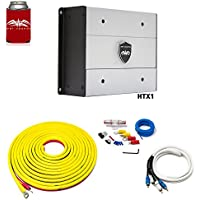 Wet Sounds HTX1 Package: 650 Watt Subwoofer Amplifier & Stinger 7-Meter 4-Gauge Amplifier Wiring Kit w/RCAs