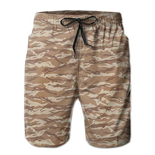 Fashion Swim Trunks Men's Board Shorts Tiger Stripes Camouflage Vector Quick Dry Shorts
