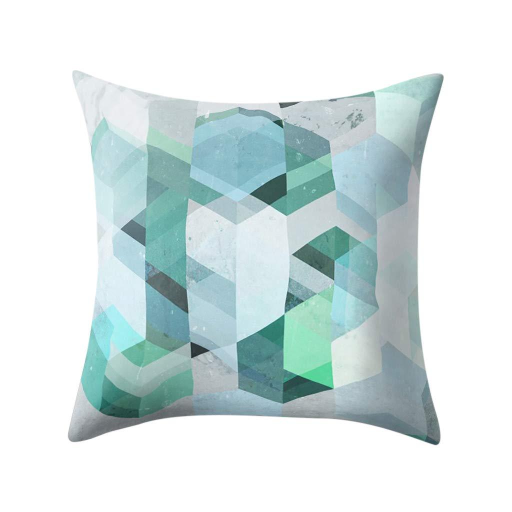 Weiliru Floral Pillowcase,Vibrant Colors Abstract Creative Watercolor Style Flower Pattern Artistic Design, Decorative Standard Multicolor Printed Pillowcase,45cmx45cm