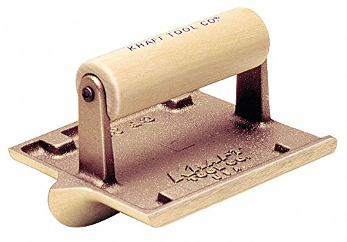 Concrete Groover,Bronze/Wood,3/8 Radius by Kraft Tool