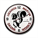 Past Time Signs LM012 Skunk Works Aviation Clock by Past Time Signs