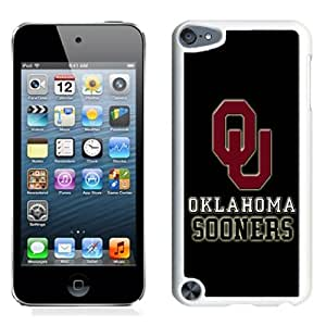 Fashionable And Unique Designed With NCAA Big 12 Conference Big12 Football Oklahoma Sooners 3 Protective Cell Phone Hardshell Cover Case For iPod 5 Phone Case White