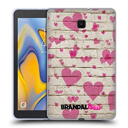 (Official Brandalised Heart Patterns Banksy Art Street Vandals Soft Gel Case Compatible for Galaxy Tab A 8.0)