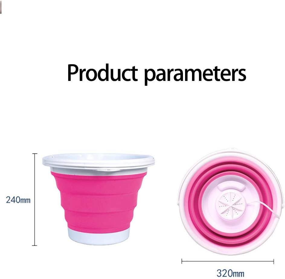 Mini USB Powered Laundry Washer With Foldable Tub Compact Ultrasonic Electric Turbine Washer Lightweight for Travel Camping Apartments Dorms Trip Portable Foldable Turbo Washing Machine Blue