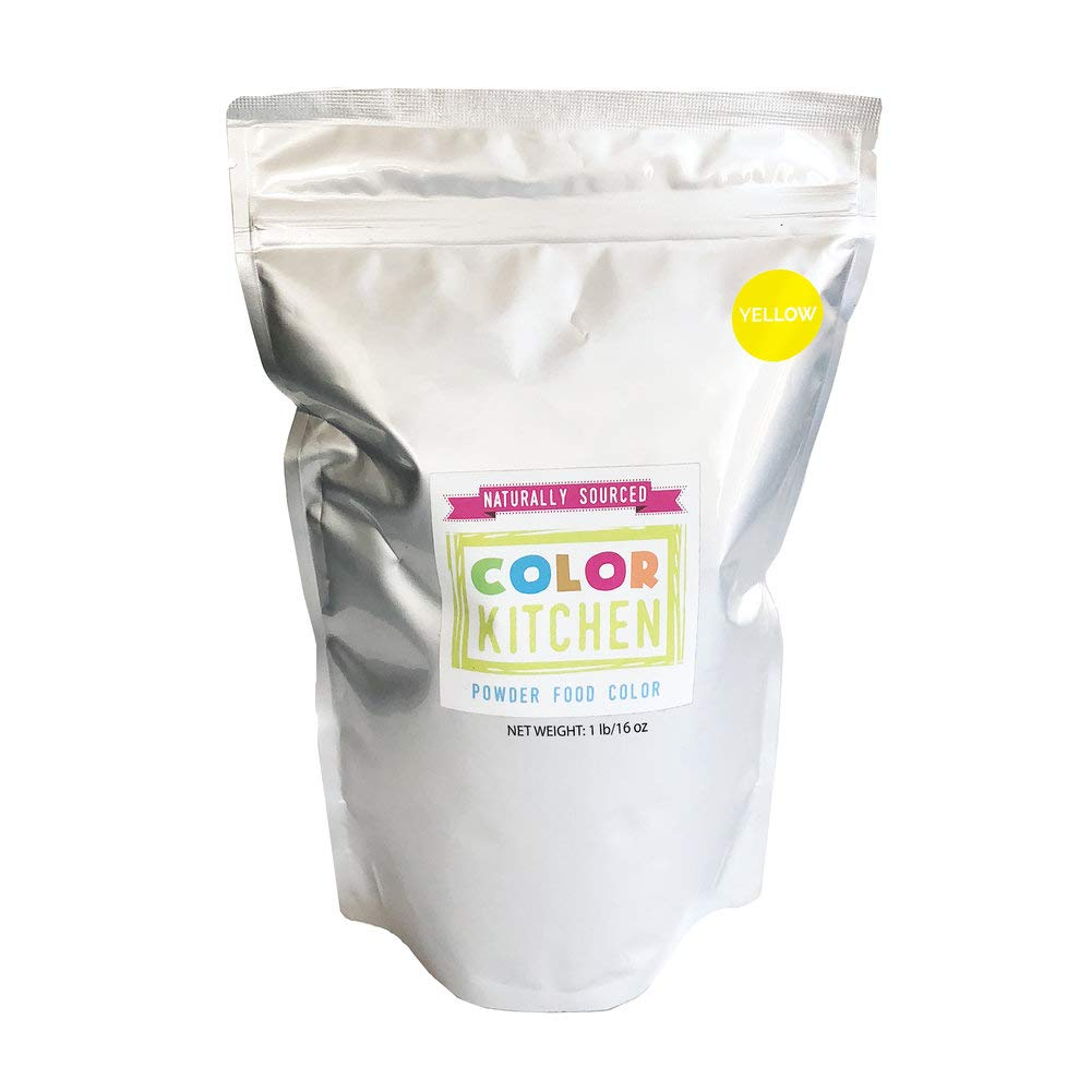 ColorKitchen Yellow Food Coloring Powder (1lb Bulk Bag) - ColorKitchen Pink Food Coloring Powder (1lb Bulk Bag) - Natural, Plant-Based, No Artificial Dyes by ColorKitchen (Image #1)