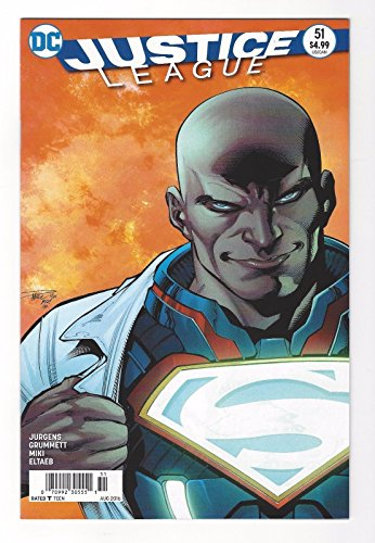 JUSTICE LEAGUE #51 Recalled LEX LUTHOR Error COVER DC Newsstand Variant