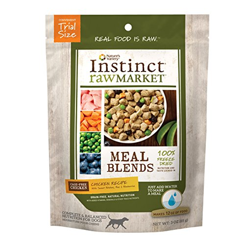 Instinct Freeze Dried Raw Market Grain Free Chicken Recipe Meal Blends for Dogs by Nature's Variety, 3 oz. Trial Size ()