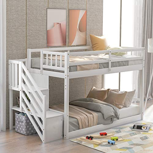 Twin Over Twin Floor Bunk Bed