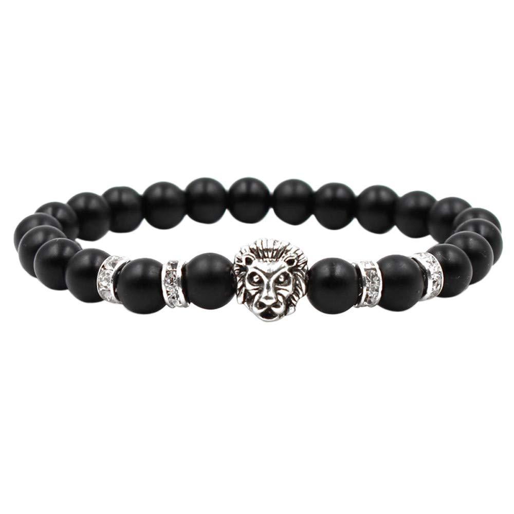 DaoAG-Accessories Beads Bracelets for Men Lion Beaded Crystal Bracelets Jewelry Fashion Chain Bracelet Simple Bangle Bracelets for Women /& Girls
