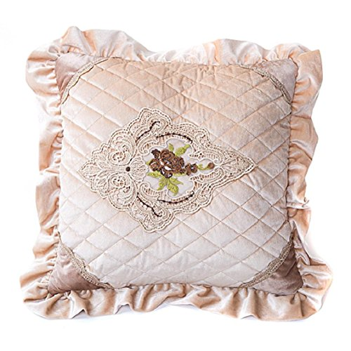 [Ikevan Hot Selling European-style Luxury Retro Square Pillowcase Velvet Soft Pillow Case Sofa Waist Throw Cushion Cover Home Decor (18
