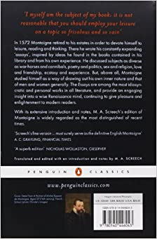 complete essays montaigne penguin Books & other media books - professional & technical history & philosophy michel de montaigne - the complete essays (penguin classics) in 1572 montaigne retired from.