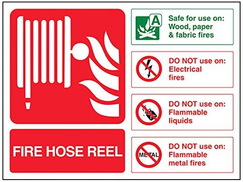 vsafety 11019 ar-r señal de extintor, Fire carrete de ...