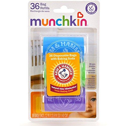 Arm & Hammer by Munchkin Bag Dispenser Refill, 36 ea (Pack of 2)