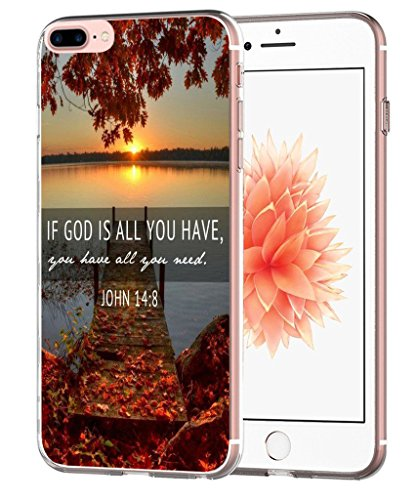 Iphone 7 Plus Case Bible Quotes - Iphone 8 Plus Case - Topgraph [Soft Tpu Slim Fit Protective] Apple Iphone 7 Plus Iphone 8 Plus Protective Bumper Cover Christian Cheap