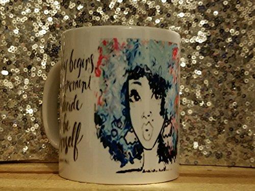 Beauty begins the moment you decide to be yourself mug/Coco Chanel quote mug/Chanel inspired mug