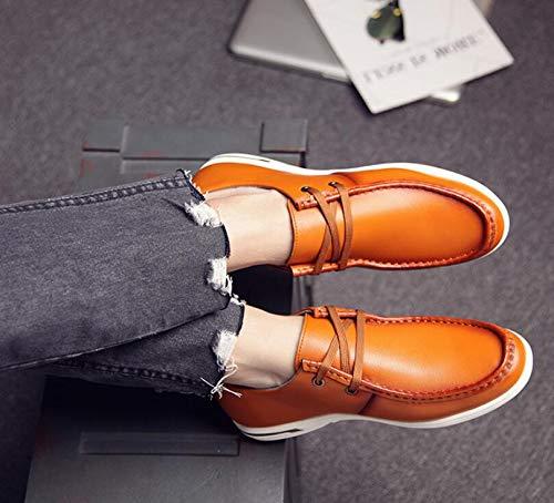 Koyi Frühling und Sommer Neue Jugend Männer Schuhe Wilde Atmungsaktive Jugend Neue Koreanische Version der Casual schnüren Sich Schuhe Bequeme Rutschfeste Tragen Yellow 9cc01e