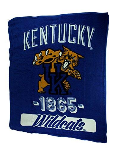 Retro Kentucky Wildcats Plush Micro Raschel Throw Blanket ()