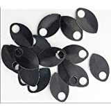 Scalemail Armor Scales - Anodized Aluminum (Large, Black)