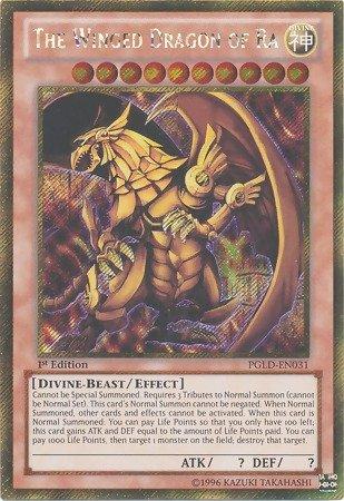 (Yu-Gi-Oh! - The Winged Dragon of Ra (PGLD-EN031) - Premium Gold - 1st Edition - Gold Secret)