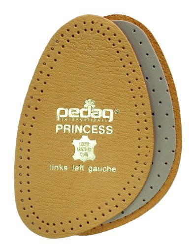 Pedag 101 Princess Cushioning Leather Half Forefoot Insole, Tan, Women's (Cushioned Leather Insole)