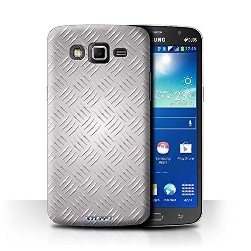 Coque de Stuff4 / Coque pour Samsung Galaxy Grand 2/G7102 / Argent Design / Motif en Métal en Relief Collection