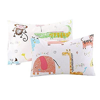 Kids Toddler Pillowcases UOMNY 2 Pack 100% Cotton Pillow Cover Cases 13 x 18 for Kids Bedding