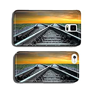 Railroad in sunset cell phone cover case Samsung S6