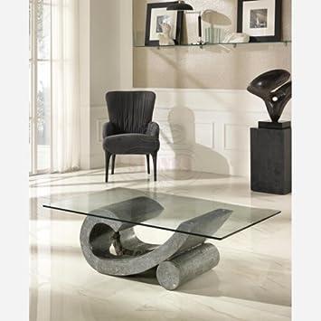 Tavolini Da Salotto Cristallo E Pietra.Emporio3 Tavolino Da Salotto In Vetro St553 Grigio Pietra