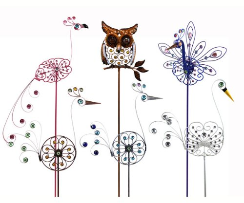 Exhart EX53181 Filigree Bird Stakes Assortment