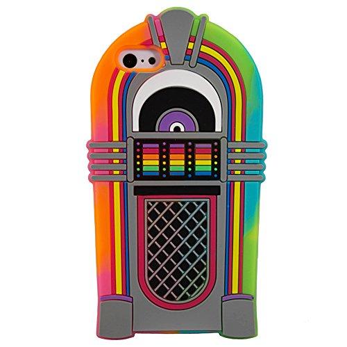 Jukebox pour iPhone 5, 5s, 5c en caoutchouc de silicone Style néon capot 3D Nouveau © Sloth Cases