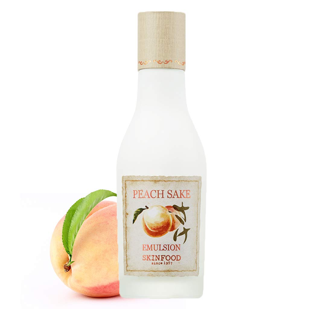 SKINFOOD Peach Sake Emulsion 135ml (4.56 fl.oz.) - Tighten Pores and Sebum Control Skin Moisturizing Facial Emulsion for Oily Skin