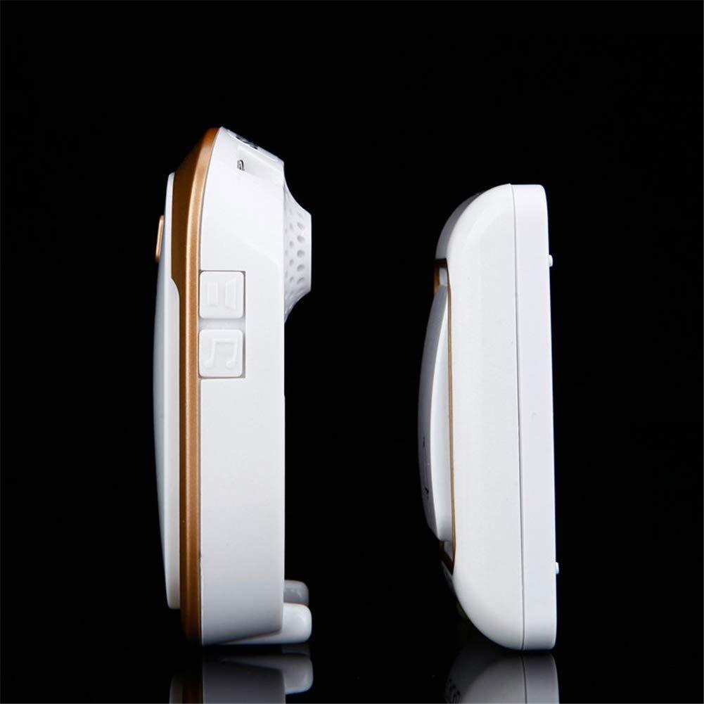 QWER Timbre inal/ámbrico DC Bot/ón de Control con Pilas 200m Luz de Control Remoto remota Timbre de Llamada inal/ámbrico para el hogar