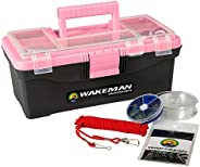 Fishing Single Tray Tackle Box- 55 Piece Tackle Gear Kit Includes Sinkers