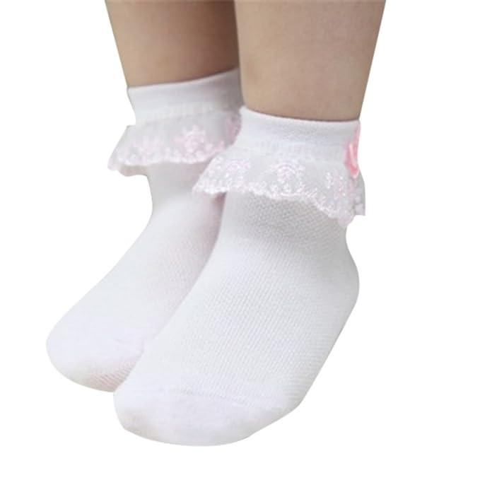 Hongyuangl Calcetines de tobillo para Niñas Calcetines de algodón de verano Calcetines de encaje princesa: Amazon.es: Ropa y accesorios