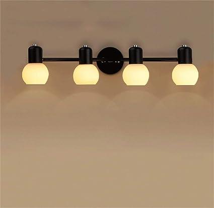 ZHYXZ Cuarto de la Lente con luz Antes, E14 Luz de Bombilla LED Luz de baño ...