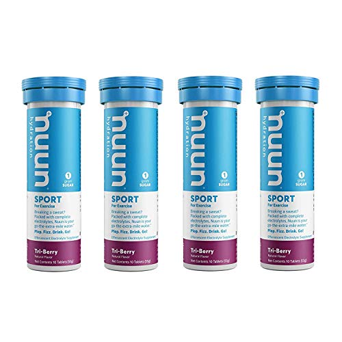 nuun Hydration Tri-Berry Electrolyte Enhanced Drink Tabs (4-Pack of 10 Tablets)