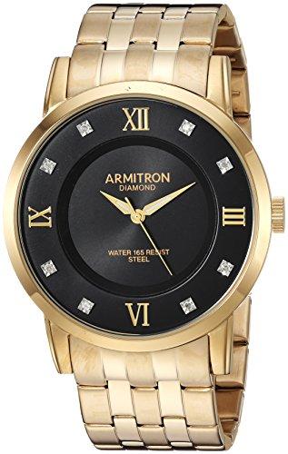 - Armitron Men's 20/5251BKGP Diamond-Accented Gold-Tone Bracelet Watch