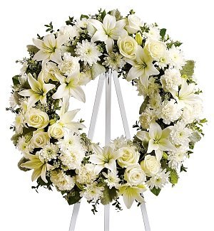 Amazoncom Funeral Flowers Serenity Wreath Fresh Cut Format