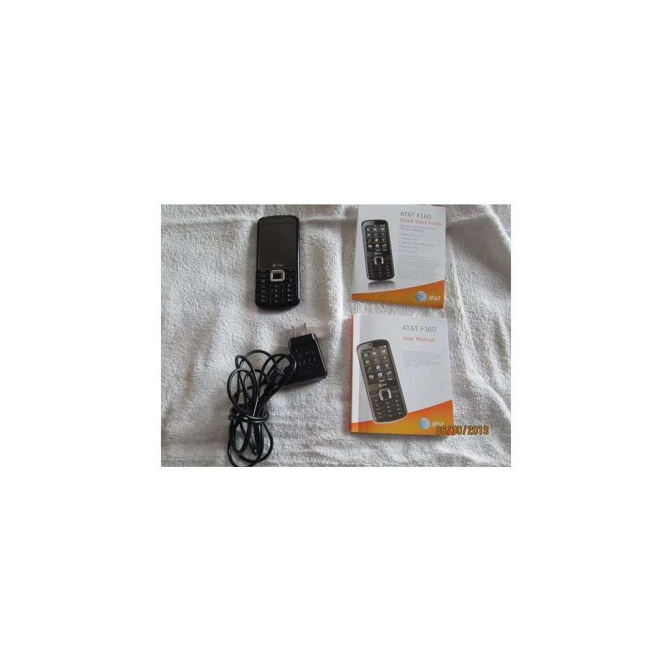 ZTE F160 Unlocked GSM Phone with 3G, GPS, 3MP Camera, Music Player, Bluetooth and microSD Slot   Black