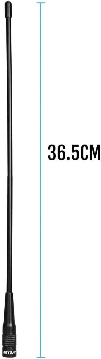 Retevis RHD771 SMA-M Walkie Talkie Antena Suave Banda Dual VHF/UHF Antena Compatible con Walkie Talkie RT3 RT3S RT81 RT82 RT83 RT87 RT50 Baofeng UV-3R ...