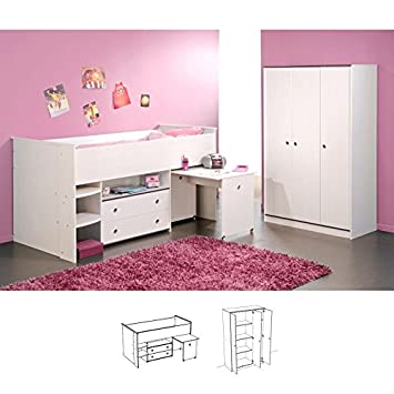 Parisot Kinderzimmer Smoozy 2 Set 2tlg Weiss Pink Amazon De