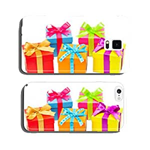 Colorful gifts against white background cell phone cover case iPhone6