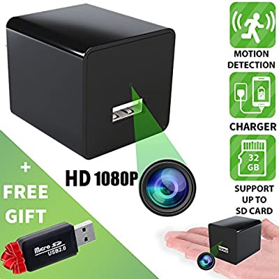 Spy Camera - Hidden Camera - Motion Detection - HD 1080P - Usb Hidden Camera - Surveillance Camera - Mini Spy Camera - Nanny Camera - Best Spy camera Charger - Hidden Camera Charger - IMPROVED 2018 from ALPHA TECH