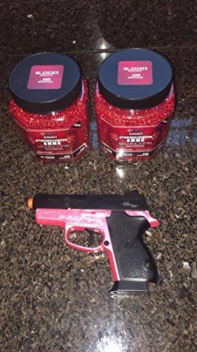 Crosman Pink P10 Wildcat .177 Caliber Semi-Auto CO2 Air Pistol, 480fps | New Air Pistol Precision Steel Barrel, Pink