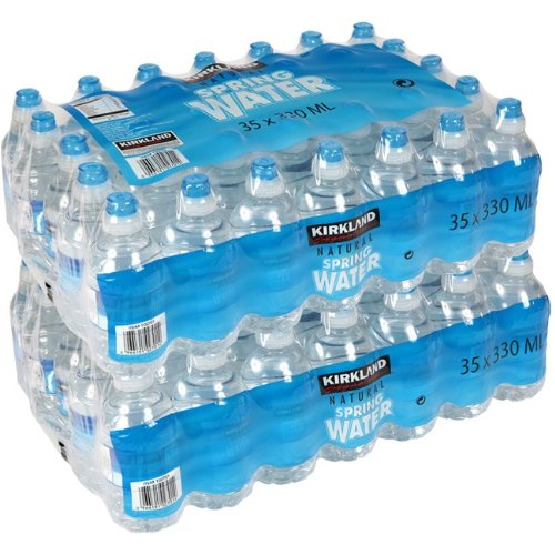 Kirkland Signature Natural Spring Water, 70 x 330ml Sports Cap Bottles (Pack of 2)